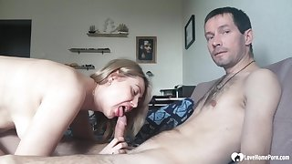 Tantalizing blondie stepmom loves blowing a knob