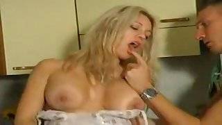 Busty flaxen-haired stunner cuckolding her make obsolete