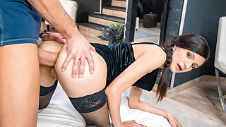 LETSDOEIT Sexy Arian Joy Gets Her Ass Destroyed By Big Cock
