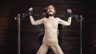 Submissive redhead ass fucked while uncultivated restrained