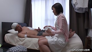 Japanese nurse, Hikari Kazami sucks dick, uncen