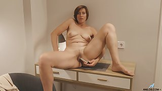 Chubby mature wifey Eleanor drops her clothes to tease her hubby
