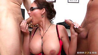 Office triptych with mimic penetration be required of slutty Phoenix Marie