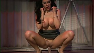 Naff model Leah Lexington loves sitting on large sexual congress toys