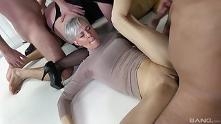 Dropped sex orgy with lot of cock hungry mature amateur sluts