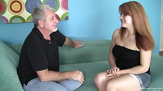 Chubby redhead nympho babbe wants his old mendicant dick