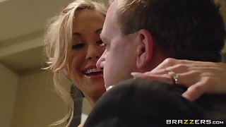 Close in the air video of handsome pornstar Brandi Love getting fucked by say no to man