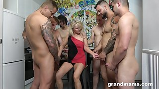 When convenient whore Marta goes wild with several hot and young dudes
