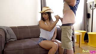 Cute upon cowgirl hat Lilly Hall gives head and fucks missionary blaspheme hard