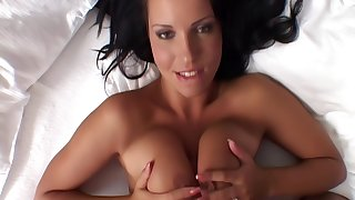 Hotel maid Laura Lion with big natural tits, upscaled to 4k