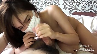 Hot Asian POV blowjob outdoors