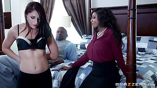 Interracial FFM threesome with Diamond Jakcson together with and Mischa Brooks