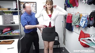 Shoplifting unspecified gets her mouth and pussy punished