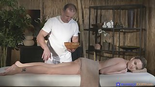 Oversexed masseur gets what he wants from beautiful Angel Piaff