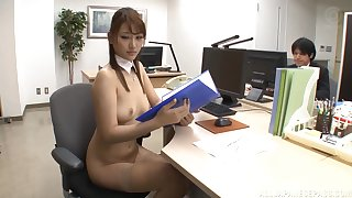 Gangbang sex in the office with astonishing pornstar Wakana Nao