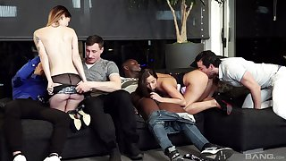 Group sex is great near Amirah Adara added to Misha Dejected in the mix