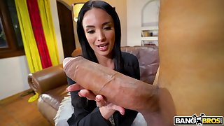 Full-grown star Anissa Kate spreads her legs be fitting of a biggest dick ever